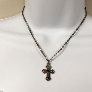 Jewelry - Antiqued Southwest Cross necklace